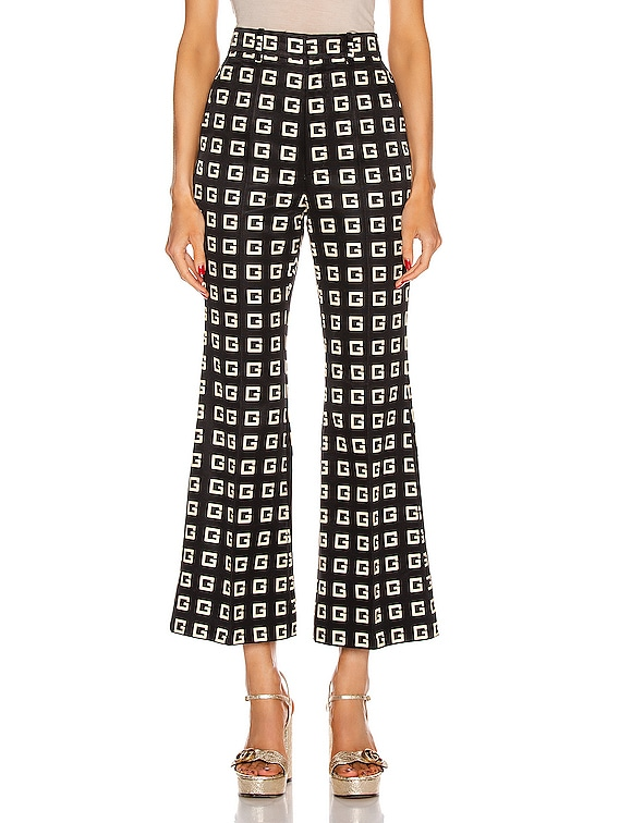 Cropped Pants in Black & Green & Red