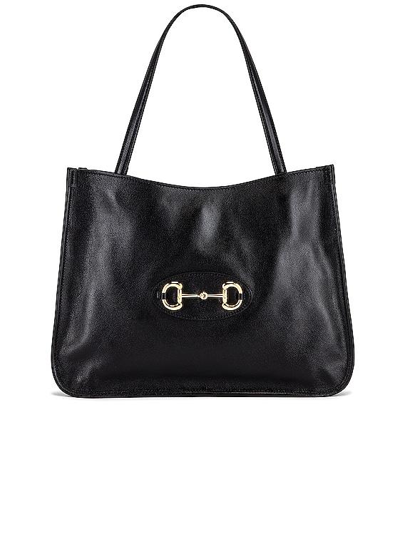 1955 Horsebit Tote Bag in Black