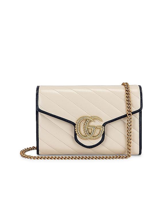GG Shoulder Bag in Mystic White & Blue Agata