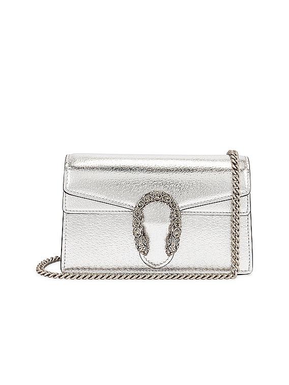 Supermini Bag in Silver & Black Diamond
