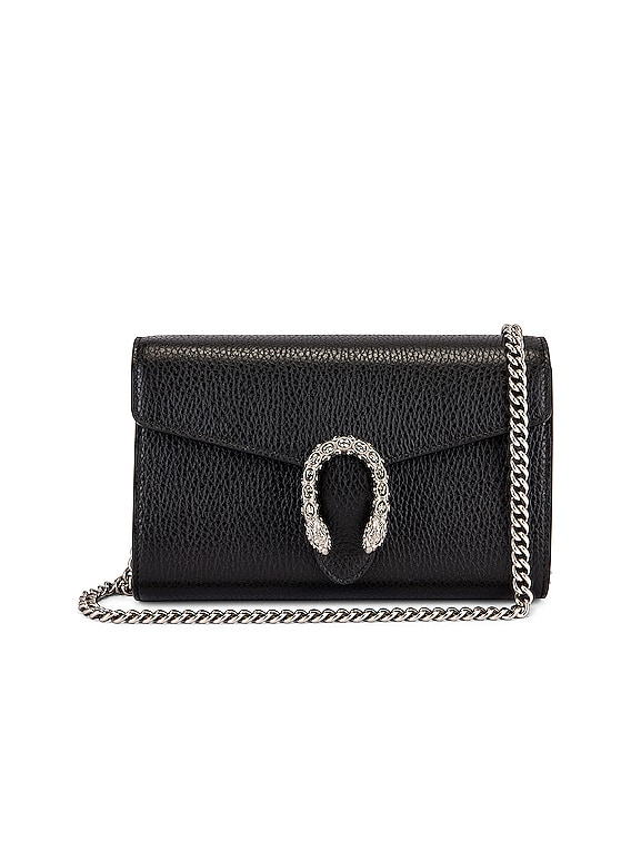 Dionysus Chain Shoulder Bag in Black & Black Diamond