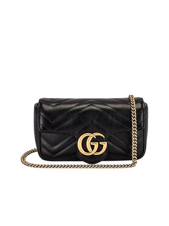 Super Mini GG Marmont Bag in Black