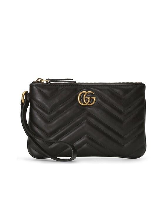 Leather Wrist Wallet in Black