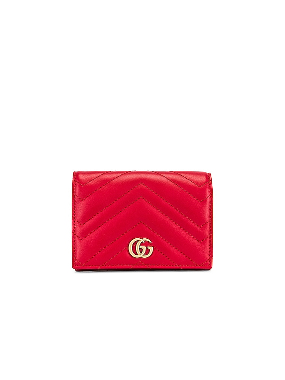 Leather Passport Case in Hibiscus Red