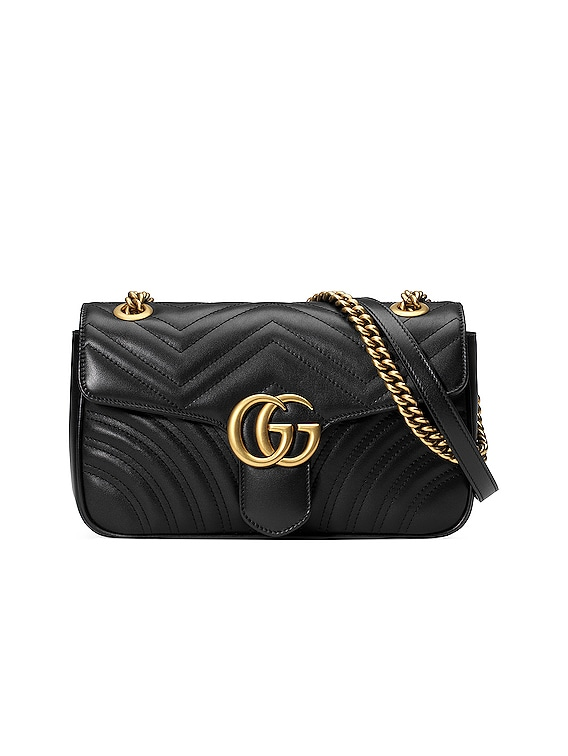 GG Marmont 2.0 Shoulder Bag in Black
