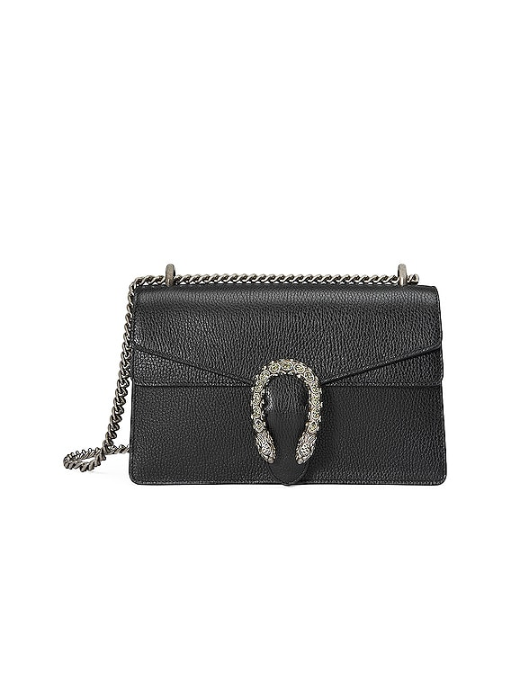 Dionysus Shoulder Bag in Black & Black Diamond