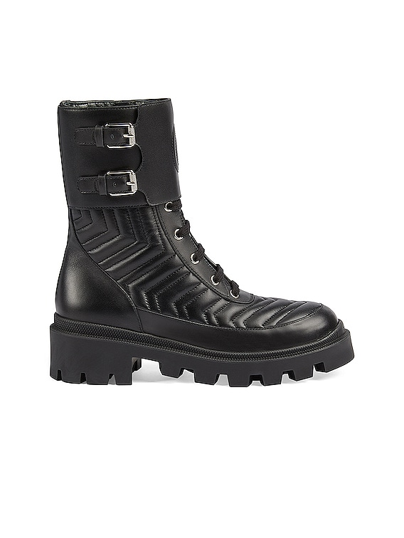 Frances Leather Boots in Nero