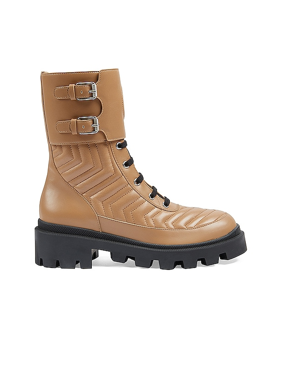 Frances Leather Boots in Natural Tan