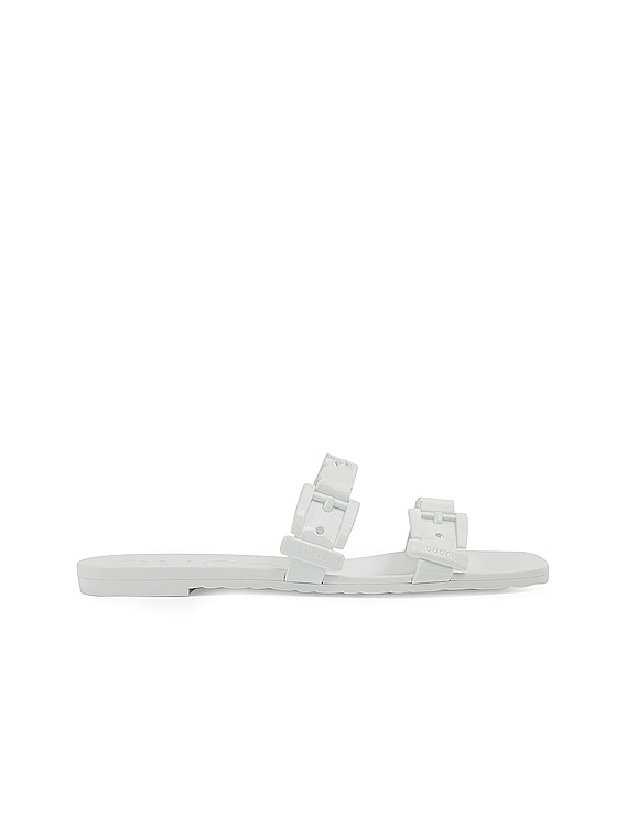 Teena Rubber Sandals in Great White