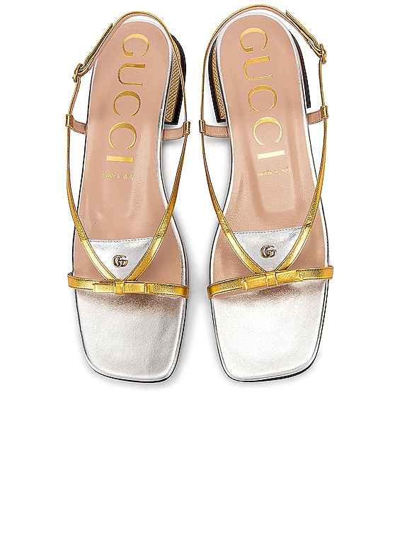 Alison Sandals in Gold & Silver