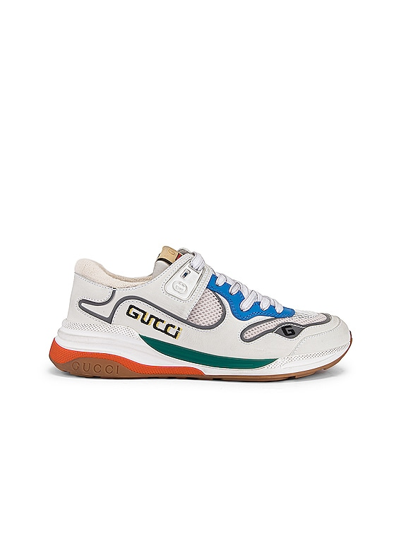 G Line Sneakers in White & Silver