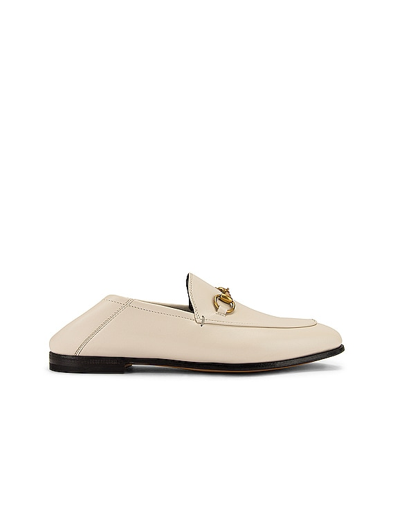 Leather Horsebit Loafers in Mystic White