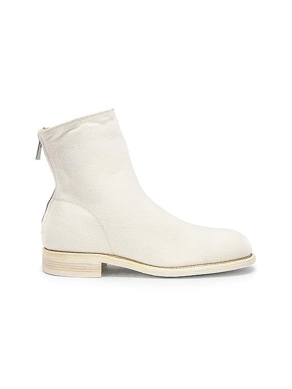 Back Zip Boot in White