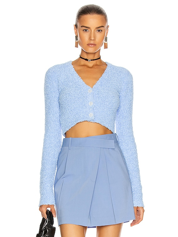 Crop Cardigan in Cloudless
