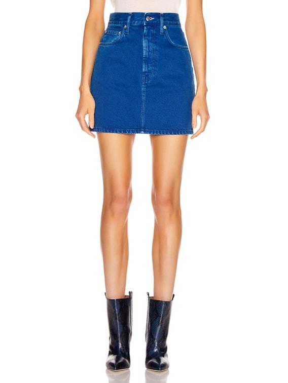 Femme Hi Mini Skirt in Azurite Stone