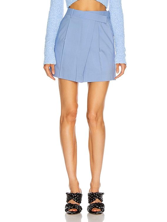 Wrap Mini Skirt in Baby Blue