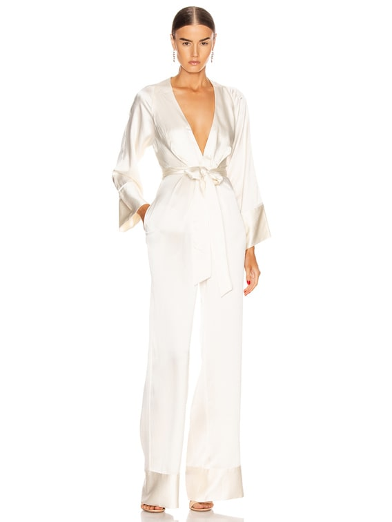 Blythe Jumpsuit in Ivory