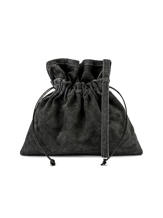 Small Red Cross Bag in Dark Grey