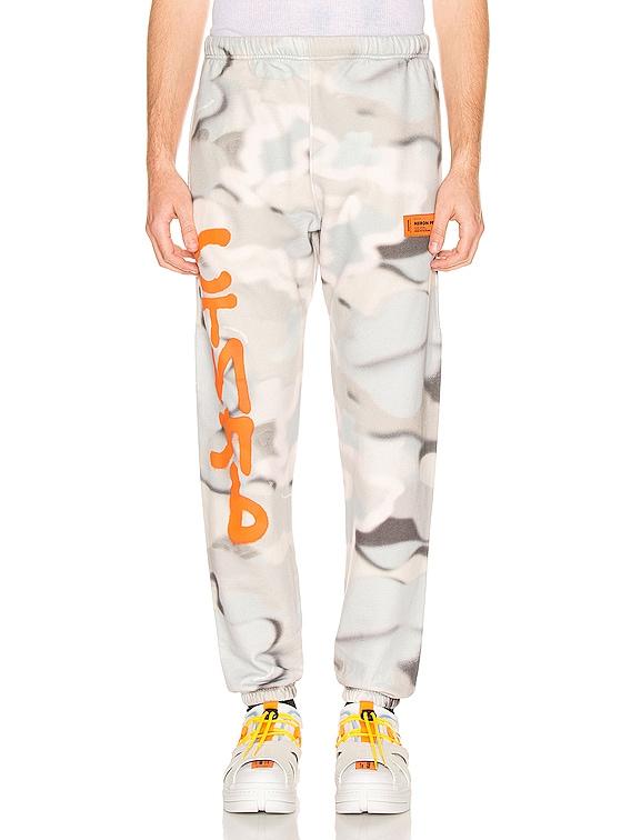 Camo Sweatpants in Multi & Orange