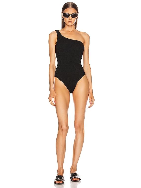 Nancy Swimsuit in Black Crinkle