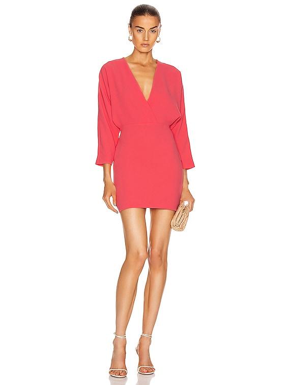Detina Dress in Hot Coral