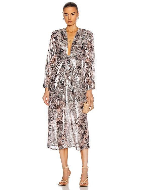 Rouniea Dress in Grey