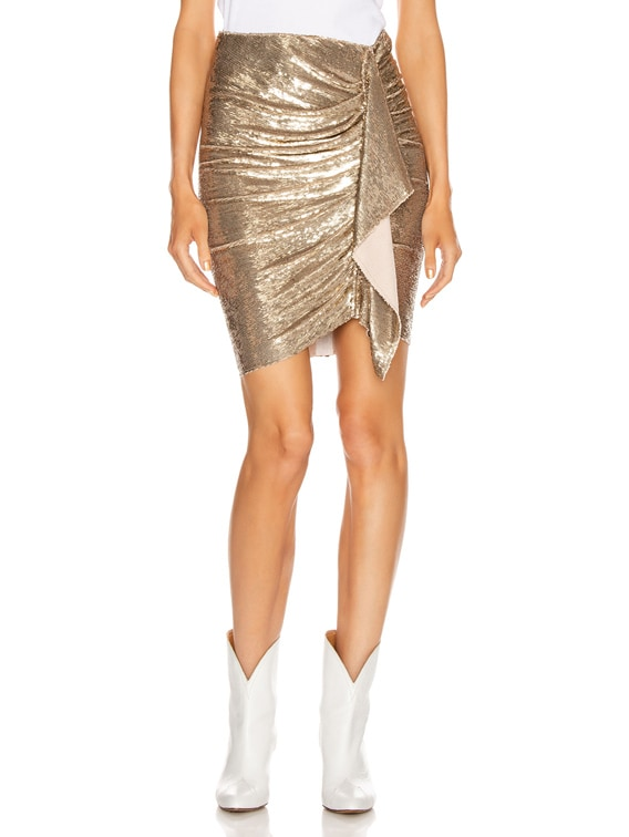 Saria Skirt in Gold