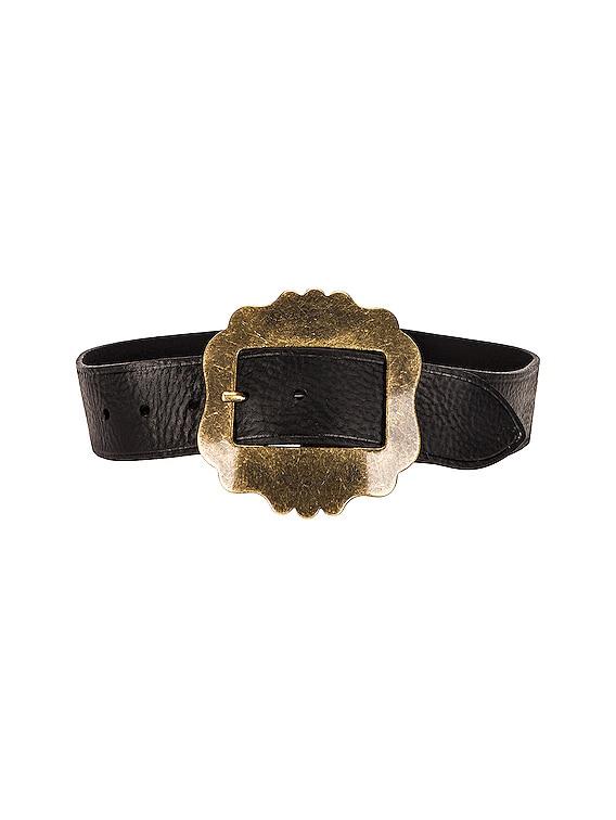 Lewa Belt in Black & Brass