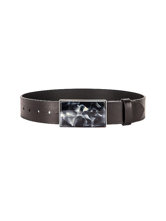 Luponi Belt in Faded Black & Silver