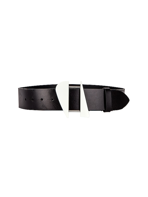 Lakena Belt in Black & Silver