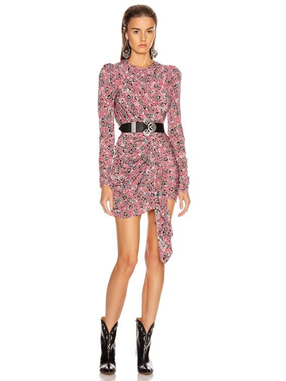 Tonia Dress in Pink
