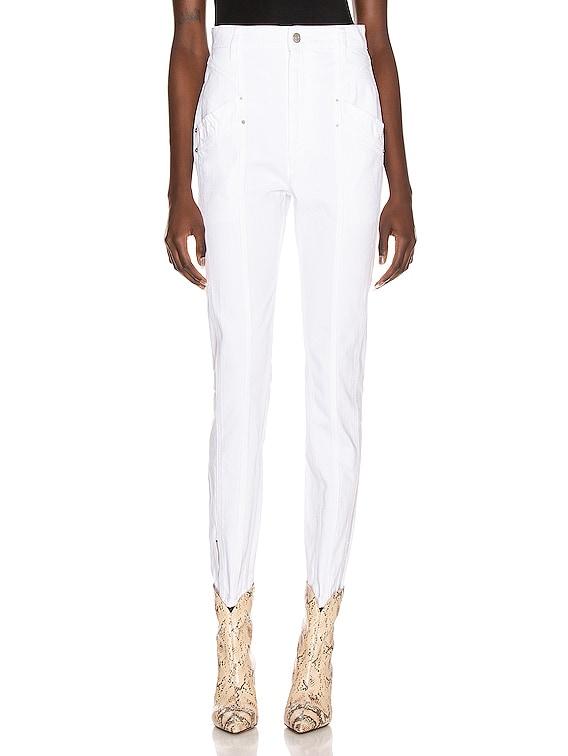 Kelissa Pant in White