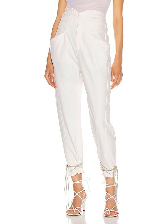 Nubaia Jean in White
