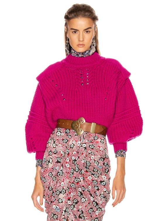 Kevy Sweater in Fuchsia