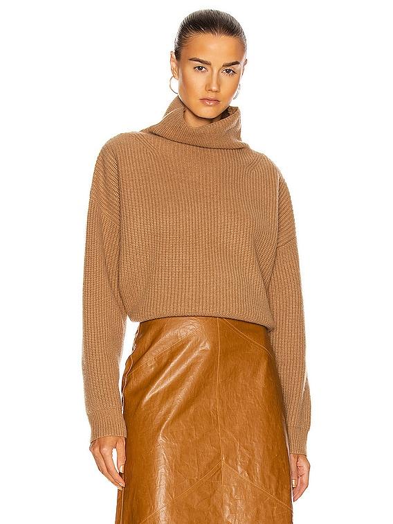 Brooke Cashmere Sweater in Camel