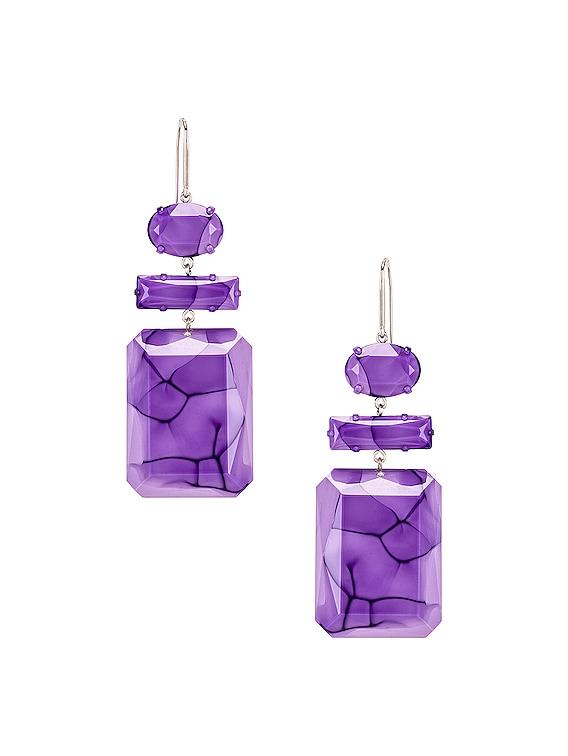 Boy Drop Earrings in Lilac