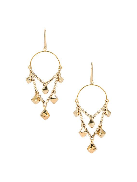 Tanganyika Chandelier Earrings in Dore