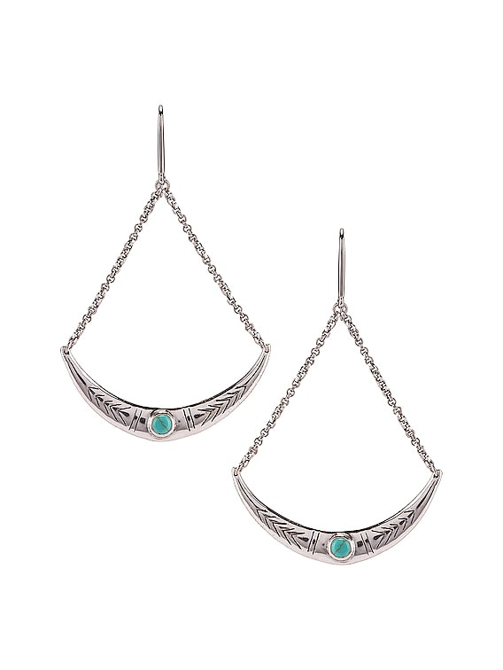 Mzuzu Earrings in Blue & Silver