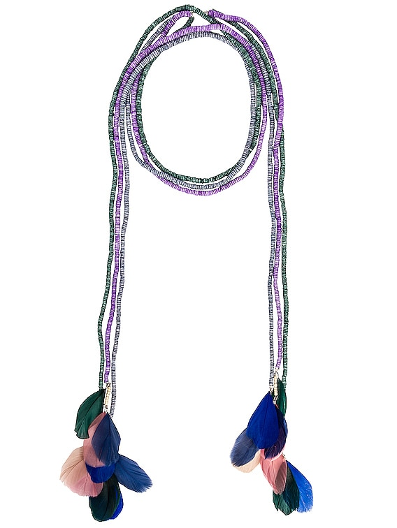 Echarpe Necklace in Lilac