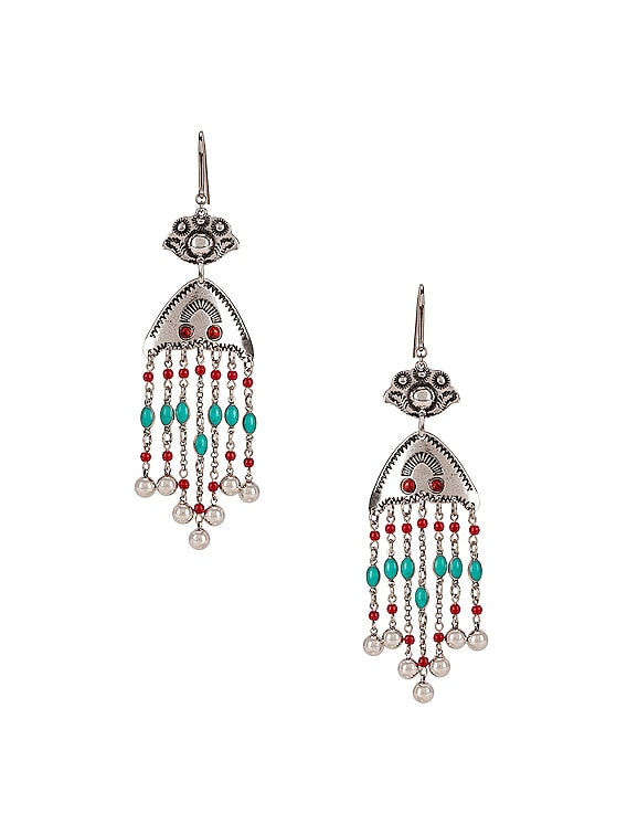 Besame Chandelier Earrings in Peach