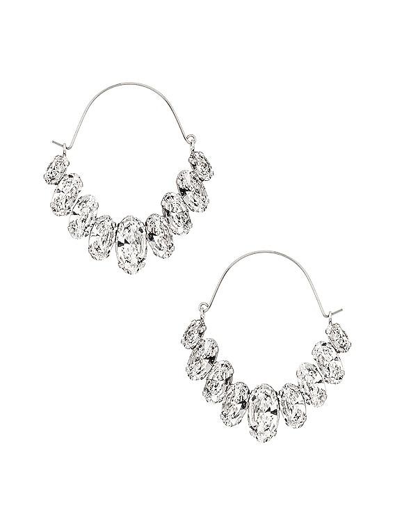 Ho La La Earrings in Transparent & Silver