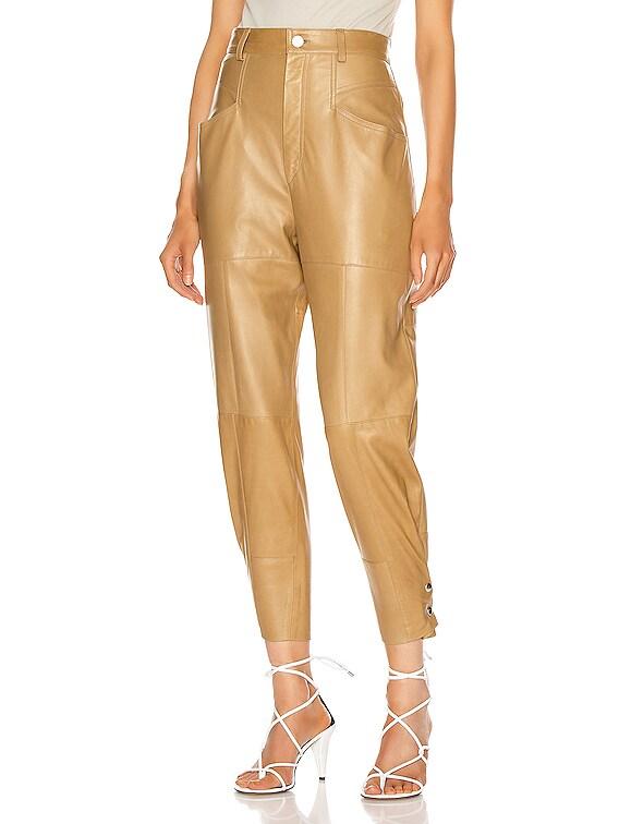 Xiamao Leather Pant in Bronze