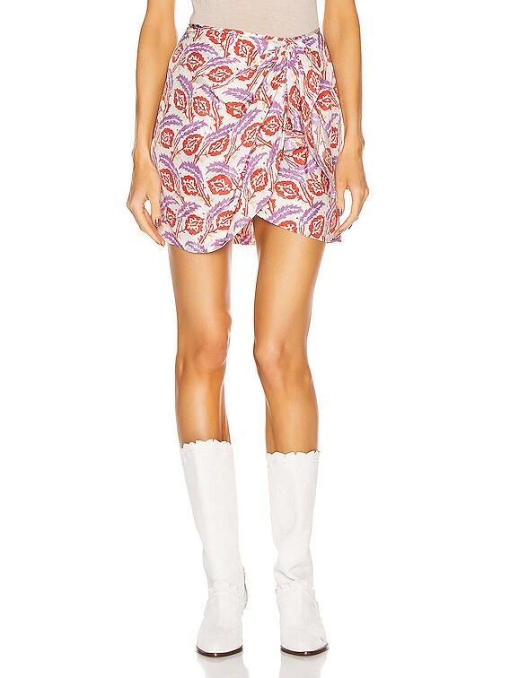 Renzia Skirt in Poppy Orange