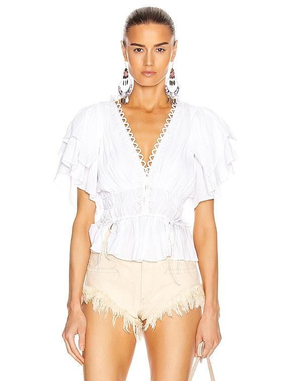 Yemila Top in White