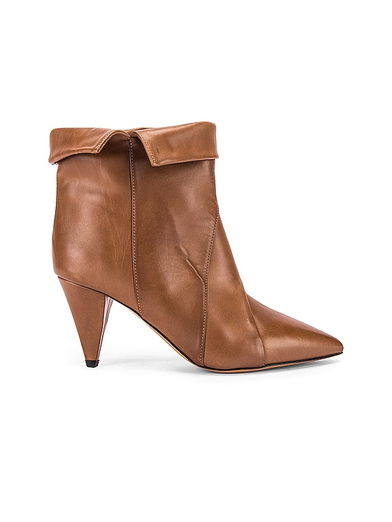 Larel Leather Boot in Natural