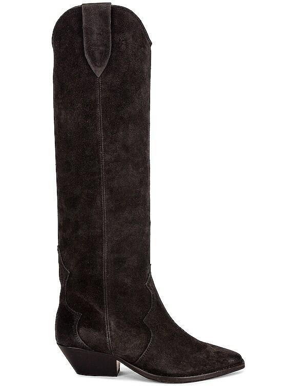 Denvee Suede Boot in Faded Black
