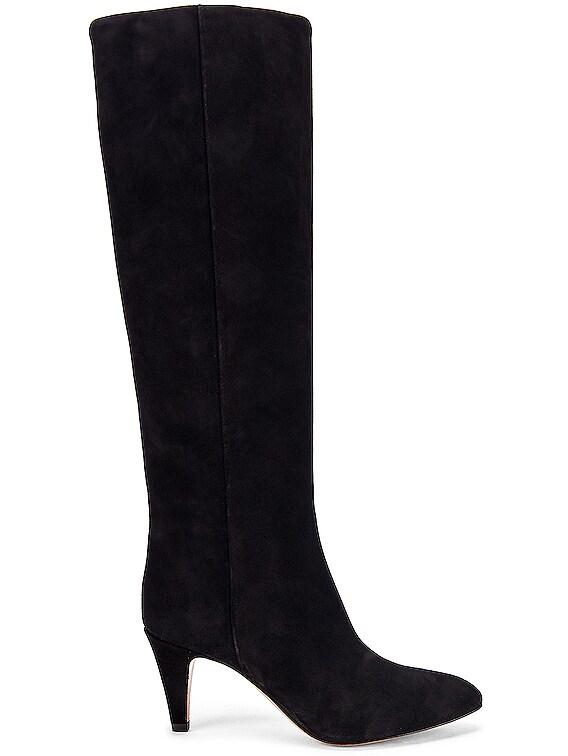 Latsen Suede Boot in Black