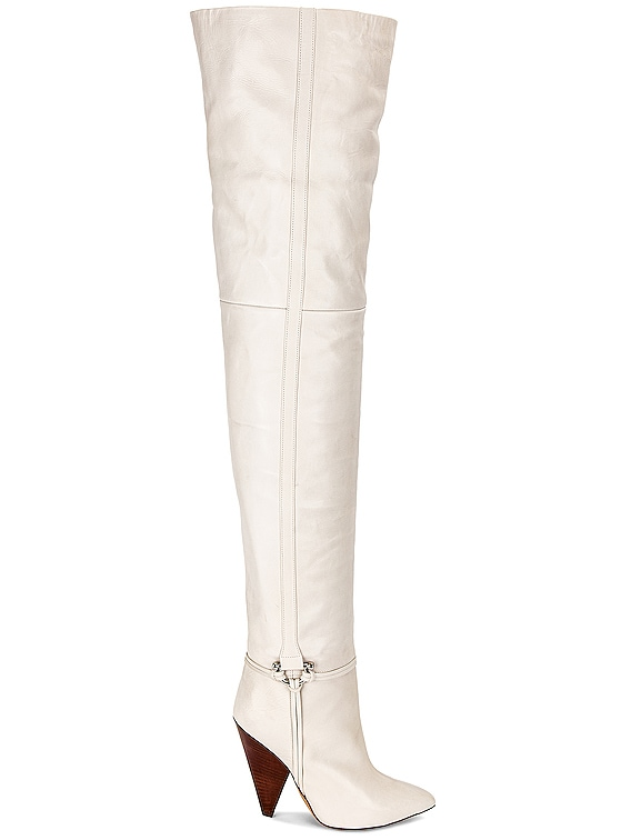 Lage Over the Knee Boot in White