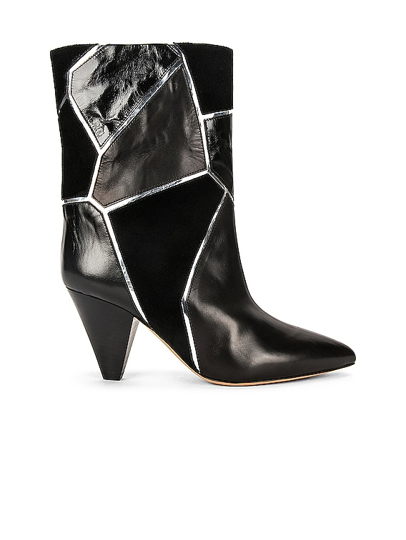 Lisabel Boot in Black & Silver