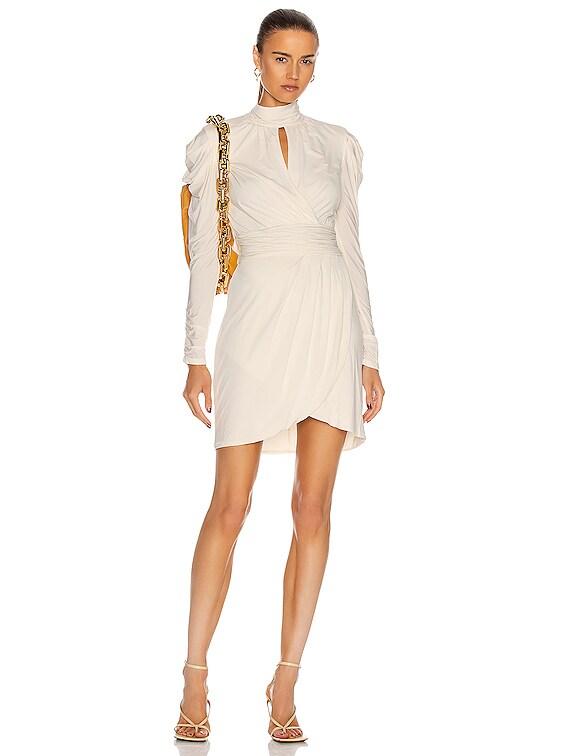 Mockneck Mini Dress in White